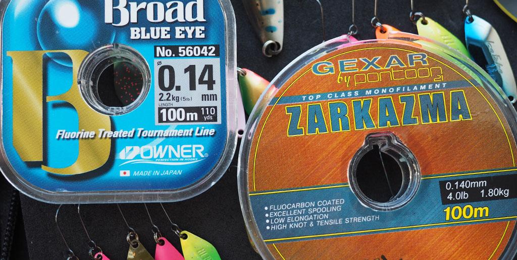 Любимые лески для форелевой рыбалки - Owner Borad Blue Eye 0.14 и Pontoon21 Zarkazma 0.14
