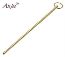 Изображение Экстрактор металлический жёлтый с накаткой и колечком